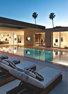 Modern architecture house design with minimalist style and luxury exterior and interior and using the perfect lighting style is inspiration for villas mansions penthouses Dream Home Design, Home Interior Design, Exterior Design, Luxury Interior, Best Modern House Design, Interior Ideas, Modern Interior, Modern Furniture, Outdoor Furniture