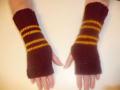 Gryffindor Wrist Warmers, $12.99 | Community Post: 56 Totally Wearable Harry Potter-Themed Accessories