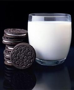 """Sorry. I can't eat oreo's without milk."" *pulls out glass like a ninja* ""I love you!!"""