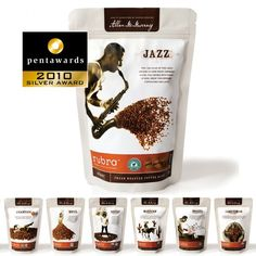 Rubra gorgeous #international #coffee #packaging PD