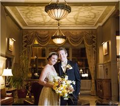 Gold colored styled session at the Oxford Hotel with lit floral bouquet and boutonniere in Denver Colorado. - April O'Hare Photography http://www.apriloharephotography.com #Denver #DenverWedding #GoldBouquet #IlluminatedFlowers #HotelWedding #ColoradoWedding #OxfordHotel #DowntownDenverWedding #GoldWedding #OxfordHotelWeddingPhotos #UrbanWedding #OxfordHotelLobby