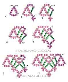 beaded necklace patterns Free pattern for beaded necklace Sweet Dream Beading Patterns Free, Seed Bead Patterns, Beading Tutorials, Free Pattern, Bead Jewellery, Seed Bead Jewelry, Jewelry Necklaces, Bullet Jewelry, Statement Necklaces