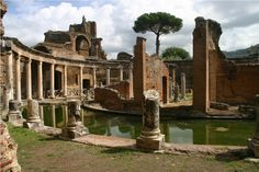 A large tunnel has been discovered underneath Hadrian's Villa (pictured), the massive, second-century A.D. imperial palace outside Rome. http://archaeology.org/news/1231-130820-italy-rome-hadrian-villa-tunnel