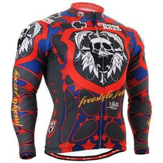 Fixgear Homme Cycle wear Red Skull design Maillot de Cyclisme bike clothes Top L   Your #1 Source for Sporting Goods & Outdoor Equipment