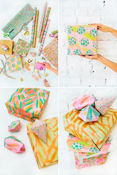 Genius Gift Wrap Ideas from DesignLoveFest, Oh Happy Day and Oh Joy! via Brit + Co.