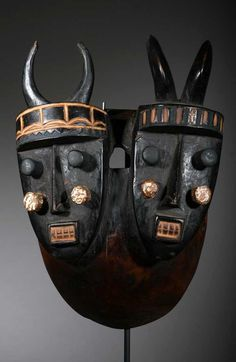 Africa | Mask from the Grebo people of Liberia | Wood and pigment