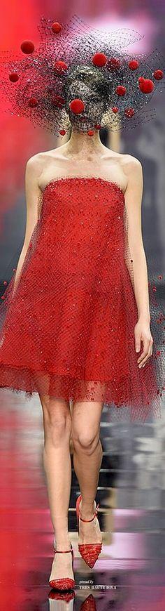 Armani Privé - Red Couture - Fall 2014
