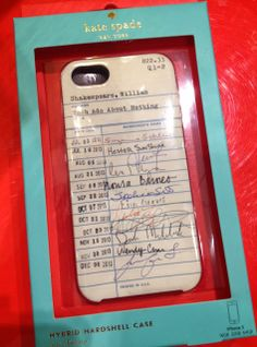 #KateSpade library card phone case. Love it. #iPhonecase