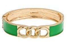 Channel Bracelet, Green on OneKingsLane.com