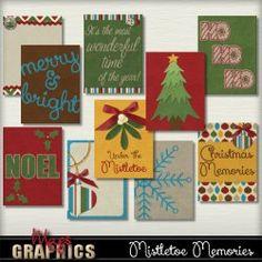 Mistletoe Memories JOURNAL CARDS