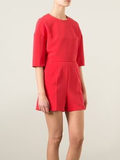 Msgm 'Francie' Playsuit in Red