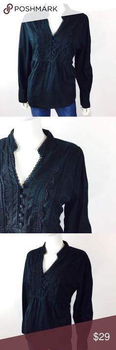 Elle Sz XL Black Boho Peasant Top Shirt Blouse Elle Womens Top Shirt Blouse Sz XL Black Boho Peasant Cotton Long Sleeve Casual  *Please make sure to check measurements below, to ensure a proper fit. Buy with confidence, we stand behind all our products!  Type: Top Style: Blouse Brand: Elle Materials: 100 % Cotton Color: Black Measurements (approximate- laying flat)   Size: XL   Bust (underarm to underarm): 20   Length: 24 Condition: Gently pre-owned Country of Manufacture: India Inventory #…