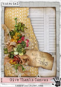 Tammy Tutterow Tutorial | Give Thanks featuring Petaloo