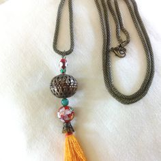 Necklace boho style   #necklace #handmade #jewlery  #handmadejewelry #boho