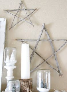Stick Stars * Log Candles * Snow globes
