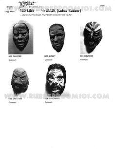 Don Post Studios Mask Masks Ad Catalog
