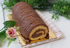 Rotolo con crema mascarpone e cioccolato è un dolce che può essere realizzato per consumare il cioccolato delle uova di Pasqua.