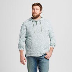 Men's Big & Tall Hooded Long Sleeve Henley