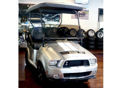 NEW Ford Shelby Mustang GT 500 Golf Cart - Golf Carts Golf Cart Parts, Golf Carts, Ford Shelby, Ford Mustang Shelby, Ford Svt, Gt 500, Racing Stripes, Custom Paint