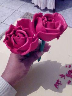 Rosas sem frizadores