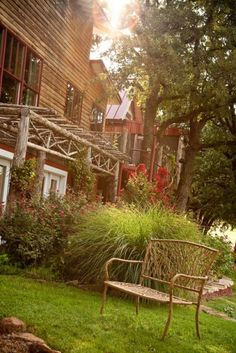 Relax on the charming grounds of the Canyon Inn at Medicine Rock Ranch in western Oklahoma.