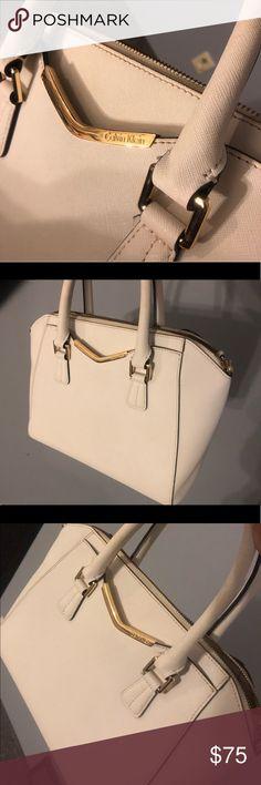 White Calvin Klein Handbag White Calvin Klein handbag with gold plate  detail. I absolutely love 561daece925