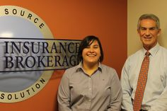 Gabriella Briones at CRS Insurance Brokerage with President Scott Metzger
