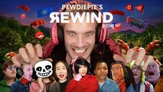 PewDiePie's Version Of 2018 Rewind Pays Tribute To Most Memorable Memes The Internet Band, Pewdiepie Youtube, English Caption, Youtube Rewind, Septiplier, Music Songs, We The People, Best Funny Pictures, Nice