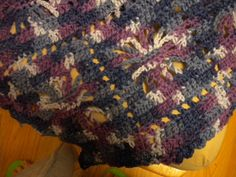 "Afghan by JustTooToo on Etsy, $50.00  Spiderweb pattern, warm & cozy #lapghan. Approx. 52""x66"". Machine washable, worsted weight, acrylic #yarn in variegating blues & purples. #etsy"