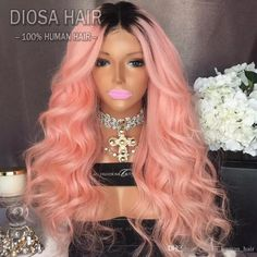 Full Lace Human Hair Wigs Ombre Two Tone T1B/Pink Wavy For Black Women Brazilian Virgin Hair 150 Density Lace Front Wigs Glueless Ombre T1B&Pink Two Tone Full Lace Human Hair Wigs Wavy Brazilian Virgin Hair 150 Density Online with $397.92/Piece on Allen_human_hair's Store | DHgate.com