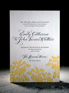 Rhon letterpress floral wedding invitation from Smock. Customize yours with Paper Passionista.
