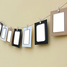 """3.5 """"x 5"""" pendurar quadros papel fotográfico com corda de cânhamo parede crianças clipe combinação foto, conjunto de 7 – EUR € 3.29"""