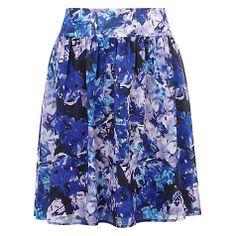Buy Kaliko Honour Print Full Skirt, Blue Online at johnlewis.com