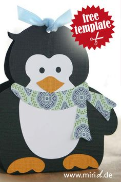 Free template: Penguin gift box.