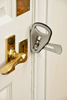 This temporary door lock seems useful ( #safety #gadget #security )