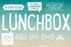 Display Fonts ~ Lunchbox ALL 50% OFF OPENING SALE!