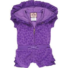 Juicy Couture Kids - Girls Hooded Romper (Infant)