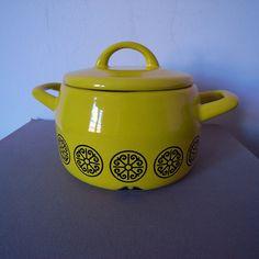 #Vintage Enamel pot  Love a good enamel pot!