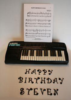 Piano Keyboard Cake