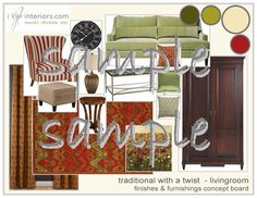 Rich, warm, bold, comfy. That's our traditional with a twist livingroom style for this one!