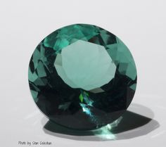 Locality: Rogerley Mine, Weardale, Northern England Size: 6.55 cts., 0.48 inches in diameter.