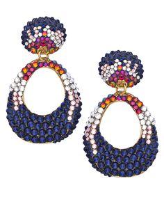 Jimmy Crystal Twilight Clip-On Earrings - Max & Chloe