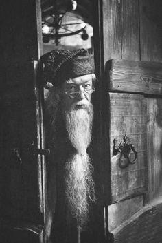 Risultati immagini per albus dumbledore black and white