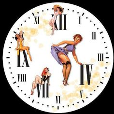 RELOJ PIN UP