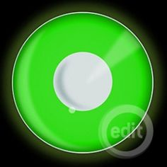 glow in the dark green contact lenses