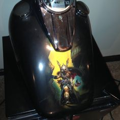 Gas Tank airbrushed by Jeff Sanger
