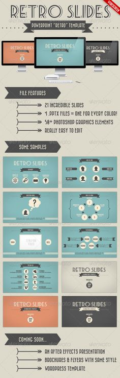 Retro Slides - PowerPoint Template (Widescreen) - GraphicRiver Item for Sale