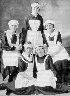 Mary-Martha Girls in maid uniforms Vintage Photographs, Vintage Photos, Indiana, Modern Aprons, House Maid, A Funny Thing Happened, Staff Uniforms, Little Theatre, Mary And Martha