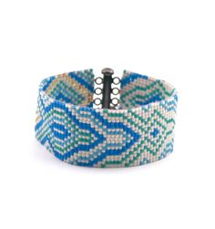 Free Shipping Worldwide!  My bead loom bracelets are finely crafted hand woven… #beadloom #loom #bead #bracelet #blue