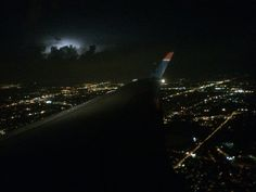 Storm from an airplane